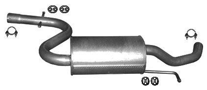 ETS-EXHAUST 53106 Mitteltopf Auspuff + Anbauteile (für TOURAN 1.6 115hp 2003-2007)