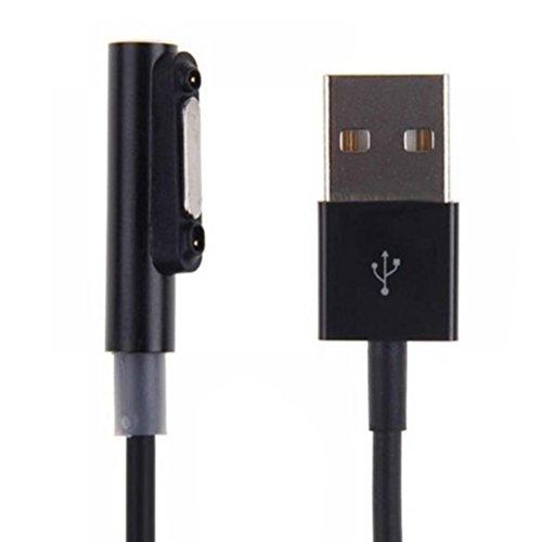 UKCOCO Cavo di ricarica USB magnetico con indicatore luminoso a LED per Sony Xperia Z1 Z1 mini Z2 Tavolo Z3 Z3 mini Z3 Tavolo (nero)