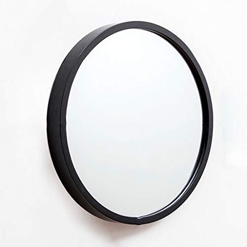Stickers muraux Miroir suspendu Nordic Salle de bains Épaissir le miroir Miroir Miroir Miroir de salle de bains Miroir Tenture Toilette Salle de bains Miroir Rond Diamètre 48cm