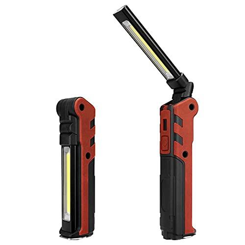 Camping Lantern USB Recargable Luz de trabajo Camping Flashlight Antorcha impermeable Batería incorporada Linterna Linternas Linternas con imán/gancho 34 mei (Color : With USB Cable)
