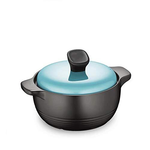 Lento Olla Para Guisar para Cocinas Caseras Ollas de cerámica 2.5L, cacerola, for cocinar sopa, no-go Easy Vierta conveniente agarre, adecuado for estufa de gas, estufa de llama abierta Olla para esto
