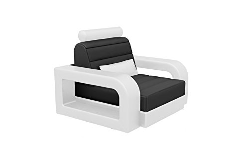 SAM® Design Wohnzimmer Sessel New York in schwarz & weiß, Bequeme Polsterung, pflegeleicht, futuristisches Design