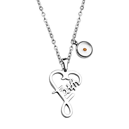 Mustard Seed Faith Love Heart Pendant Necklace Religious Jewelry Gift (Faith Necklace)