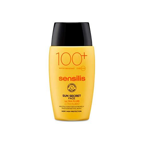 Sensilis Sun Secret - Protector Solar Facial Ultra Fluido 100, para Pieles Sensibles e Intolerantes al Sol - 40 ml