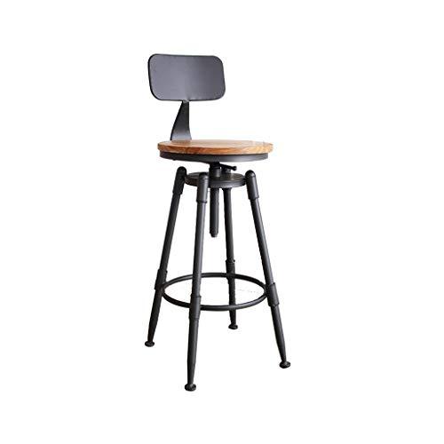 Smeedijzer Barkruk, Bar Cafe Retro Stijl Hoge Kruk met rugleuning zithoogte: 70~90CM Barkrukken (Size : A)