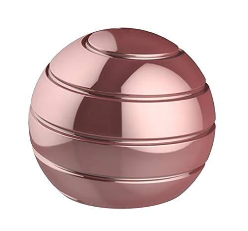 CaLeQi Kinetic Schreibtischspielzeug Office Metal Spinner Ball Gyroskop mit optischer Täuschung für Anti-Angst Stress abbauen Inspirieren Sie innere Kreativität (Pink)