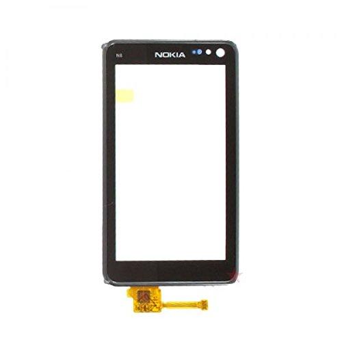 Nokia N8 N8 -00 Display Glas + Touchscreen digitizer Diplay Glas Touch Pad Screen grau - Bulk