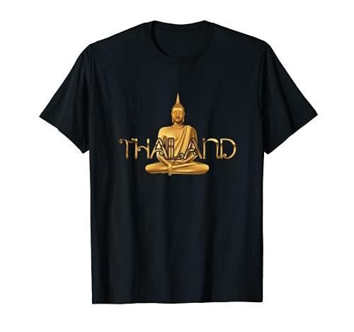 Thai Great Thailand Statue Golden Buddha Traveler Vacation T-Shirt