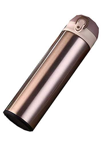 siyao Thermoskanne Doppelwandige Edelstahl Isolierflaschen 500 Ml Thermoskanne Tasse Kaffee Tee MilchReisebecher Thermoflasche Aqw348 500 Ml Gold
