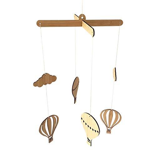 Holzdecke Mobile Hängende Heißluftballon Dekorationen Windspiel Wand Ornamente für Kinderzimmer Baby Dusche Kinderzimmer Dekor