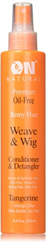 On Natural On Organic Premium Oil-free Weave & Wig Spray Tangerine, 8 Fluid Ounce