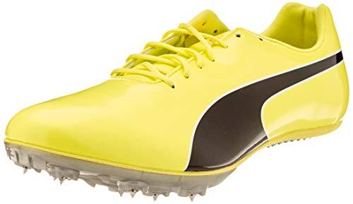 PUMA Evospeed Sprint 10, Zapatillas de Atletismo Unisex Adulto, Amarillo (Fizzy Yellow Black), 44 EU