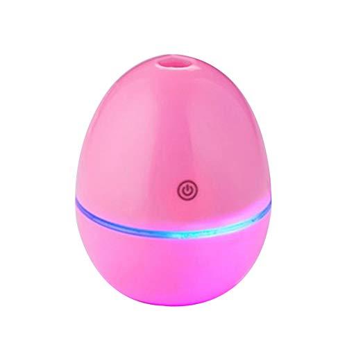 Humidificador De Aire, Purificador De Aire del Difusor del Agua De Rociadura De La Niebla del Humidificador del Mini USB del Coche De La Forma del Huevo Rosado Talla única