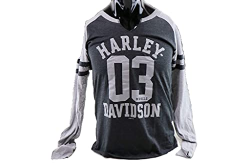 HARLEY DAVIDSON HARLEY-DAVIDSON Unisex Langarm-Shirt Collage Dealer Shirt Longsleeve aus Baumwolle Pullover Motorrad Sweater Biker, L