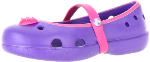 Crocs Keeley Mary Jane (Toddler/Little Kid),Ultraviolet/Berry,9 M US Toddler