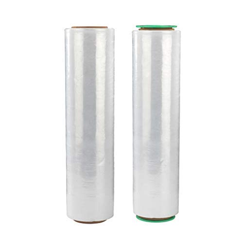 Stretch Film/Wrapping Paper Thickness, Stretch wrap with Tension Control Handle, Stretch Wrap Industrial Strength, Durable, Extra Thick, Heavy Duty Shrink Film (2 Packs)