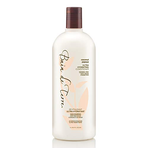 Bain de Terre Coconut Papaya Ultra Hydrating Conditioner, with Argan and Monoi Oil, Paraben-Free, 33.8-Ounce