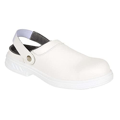 Portwest Steelite Safety Clog SB AE WRU, Chaussures de sécurité homme - blanc cassé - Avorio (Weiß), 45 EU EU