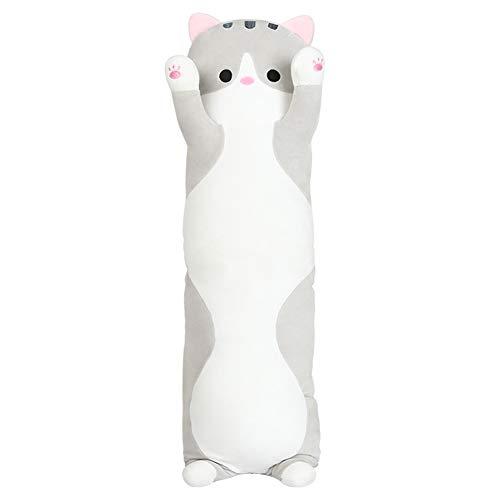 kinokoo Plush Pillow Cat Pillow Hugging Doll Cushion (grey, 70)