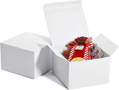 HOUSE DAY 10 Stück Geschenkbox Geschenkboxen Geschenkschachtel Weiß Groß mit Deckel für Kinder Baby Geburtstagsgeschenk Hochzeit Vatertag Vatertagsgeschenk 15 x 15 x 10cm
