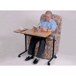 Performance Health Fully Adjustable Bed and Chair Table, Overbed Table, Wheeled, Adjustable Height, Width and Angle, Tilting, for Meals, Reading, Writing, Hobbies, Activities