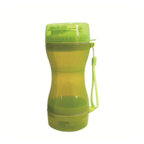 QOXEFPJZ botella agua perro Agua y comida para mascotas Copa de doble propósito, botella de agua hacia fuera, taza de doble uso portátil para mascotas de acompañamiento de la taza de agua para mascota