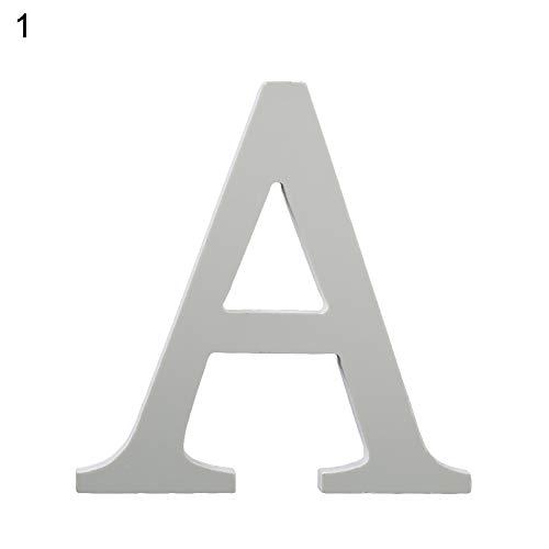 Steellwingsf Kreative Holz-Ornamente zum Basteln Buchstaben Alphabet Tischdekoration Hochzeit Geburtstag Heimdekoration
