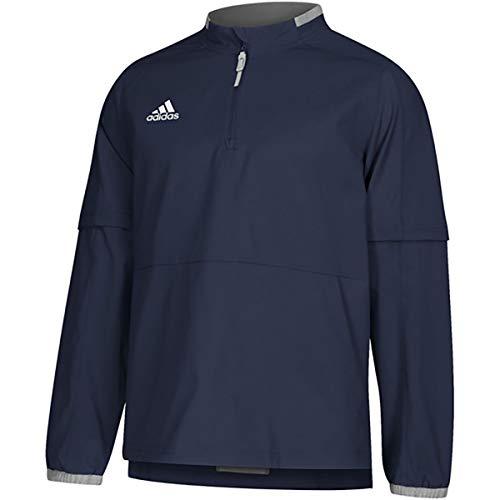 adidas Mens Fielders Choice 2.0 Long Sleeve Baseball Convertible Jacket Navy L