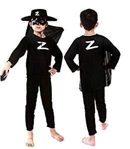 Be-Creative Déguisement de super-héros Spider-Man Batman pour enfant (M 3 à 4 ans, Zorro)