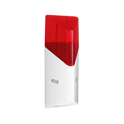 ABUS Smartvest Funk-Sirene FUSG35000A - Laute Sirene mit rotem Blitzlicht - für den Innen- und Außenbereich - bis zu 100 dB - 38832