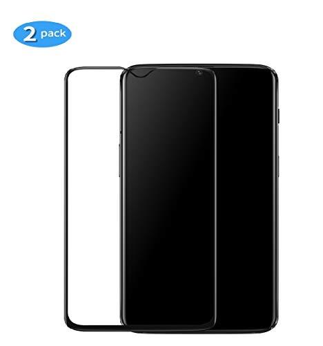 yueer [2 Pack Panzerglas Schutzfolie für OnePlus 6T/A6013,[Anti- Kratzer] [Ultra Clear] Panzerglasfolie Bildschirmschutzfolie Folie für OnePlus 6T/A6013.