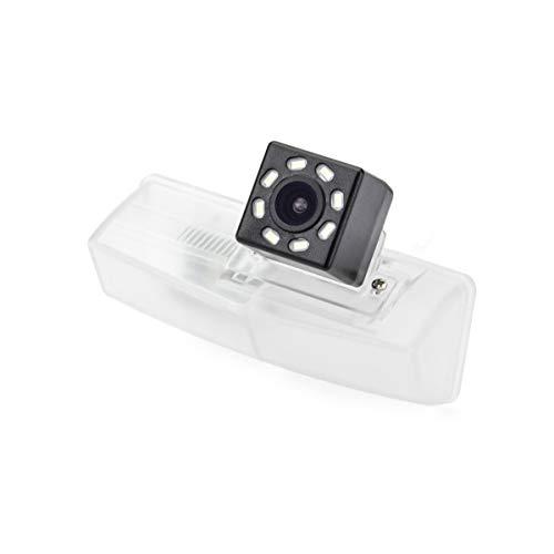 eHANGO - Supporto per telecamera posteriore da auto, 4 pin a RCA, per luci targa, per Lexus HS250h/Lexus CT200h/Toyota Matrix/Toyota Prius/Toyota RAV4/Toyota Venza (8 LED)