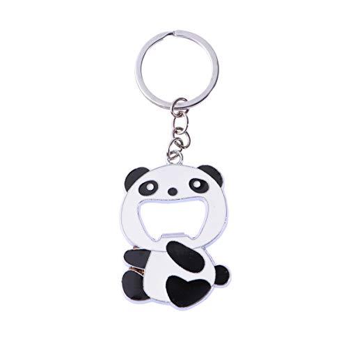 Toyvian Bier Opener Panda Schlüsselbund Tier Anhänger Schlüsselring Soda Flaschenöffner Neuheit Schlüsselring für Home Bar Hochzeit