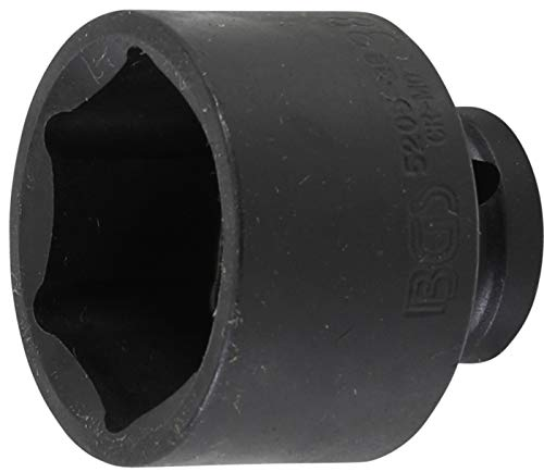 BGS 5205-38 | Kraft-Steckschlüssel-Einsatz Sechskant | 12,5 mm (1/2') | SW 38 mm