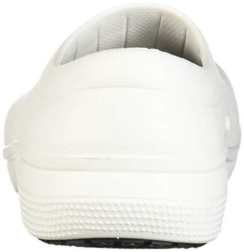 Crocs Unisex On the Clock Work Slipon Sandals, White, 7 UK Men 8 UK Women