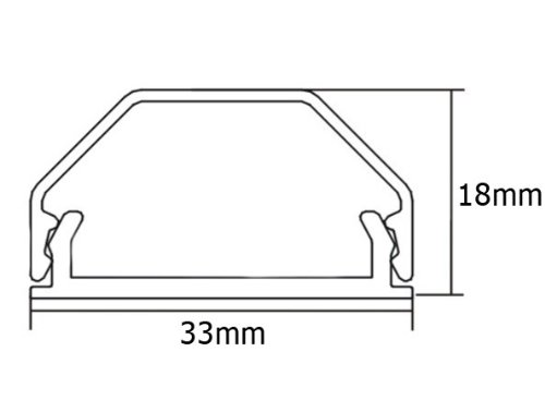RICOO ALU Kabelkanal fuer Fernsehhalterung Z0100S Flachbild-Fernseher Kabelfuerung L=110cm Decken-Halterung-Kanal Wand-Kanal Fussboden-Kanal Aluminium Farbe:Silber - 3