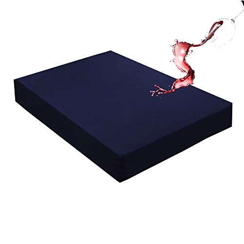 Mecerock Navy King Size Waterproof Mattress Pad Protector...