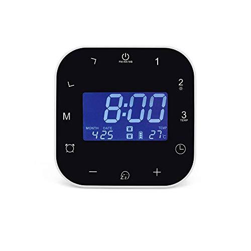 YUYANDE Alarma Reloj Niños Despierta Fácil configuración Digital Viajes para niños Chicas, Tiempo de Pantalla Grande/Fecha/Alarma con Snooze, Reloj de cabecera Dormido de Mano Negro