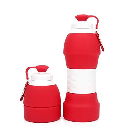 ASR - Botella de agua plegable de silicona para exteriores, para deporte, correr, ciclismo, senderismo, 580 ml (D)