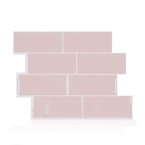Smart Tiles Self Adhesive Wall Tiles - Metro Ava - 4 Sheets of 11.56' x 8.38' (29.36 cm x 21.29 cm) Kitchen and Bathroom Stick on Tiles - 3D Peel and Stick Backsplash