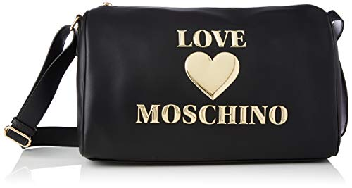 Love Moschino Precollezione SS21 | Borsone PU da Donna, Borsa A Spalla, Nero, Normal