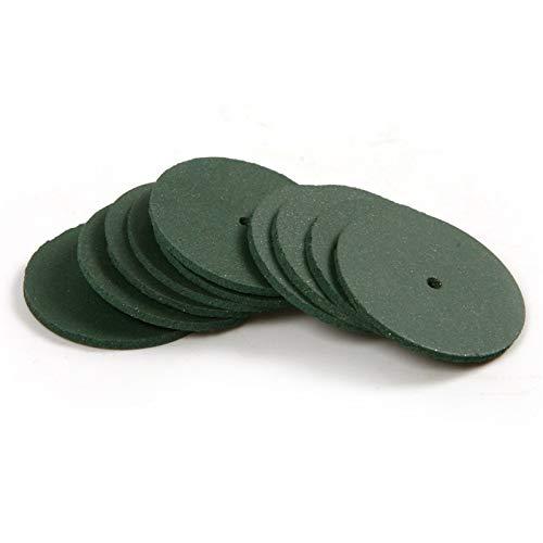 HHOSBFSS 10 Unids Ruedas De Pulido Áspera/Mediana Ruedas De Rectificado De Goma, Adecuadas para Dientes De Acero, Soportes De Acero, Joyería (Color : Green)