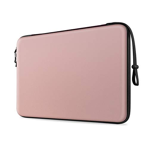 FINTIE 13-inch Hard Shell Laptop Sleeve Case for 13.3' MacBook Air A2337 M1 A2179 A1932, MacBook Pro 13 A2338 A2251 A2289 A2159 A1989 A1706 A1708, Shockproof Carrying Cover Protective Bag, Pink