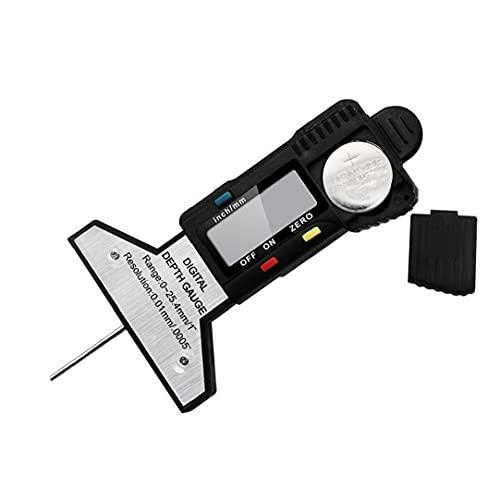 Digital profundidad del neumático calibrador del neumático medidor de profundidad 0-25.4mm portátil Profundidad de rodadura, herramienta de medición