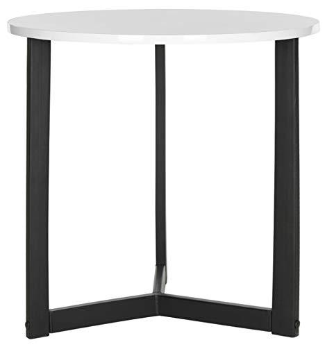 Safavieh Lackierter Beistelltisch, Metall, weiß/schwarz, 57 x 57 x 57.91 cm