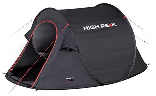 High Peak Wurfzelt Vision 3, Pop Up Zelt für 3 Personen, Festivalzelt freistehend, super leichtes Schnellöffnungs-Wurfzelt, 2000 mm wasserdicht, Ventilationssystem, Moskitoschutz