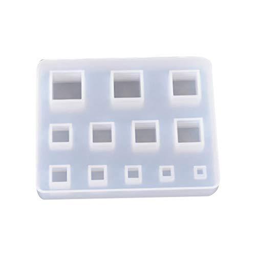 Molde de silicona para anillo bohemio para proceso de arcilla líquida, resina tentación, fabricación de joyas, manualidades, molde epoxi