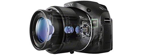 Sony DSC-HX300 Digitalkamera (20,4 Megapixel, 50-fach opt. Zoom, 7,5 cm (3 Zoll) LCD-Display, Full HD, micro HDMI) schwarz