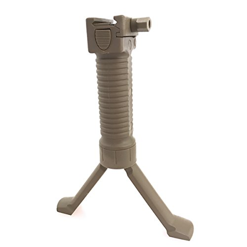 ATAIRSOFT WorldShopping4U Tir Tactique poignée Airsoft Paintball Weaver Facile Bouton bipied Fore Grip Ajustement 20mm RIS Rail