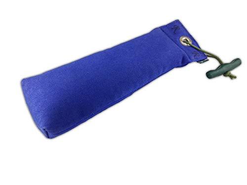 Romneys Standard Dummy 500g blau | Inklusive Wurfgriff | Schwimmfähig und unsinkbar | Ideal für das Apportiertraining